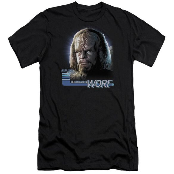 Star Trek Tng Worf-premuim Canvas Adult Slim