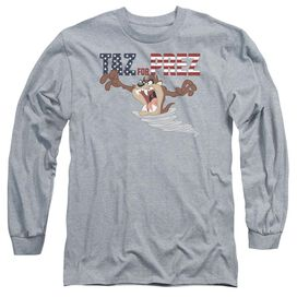 Looney Tunes Taz For Prez 3 Long Sleeve Adult Athletic T-Shirt