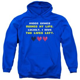 Two Lives Left Adult Pull Over Hoodie Royal