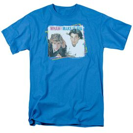 Wham Make It Big Short Sleeve Adult Turquoise T-Shirt