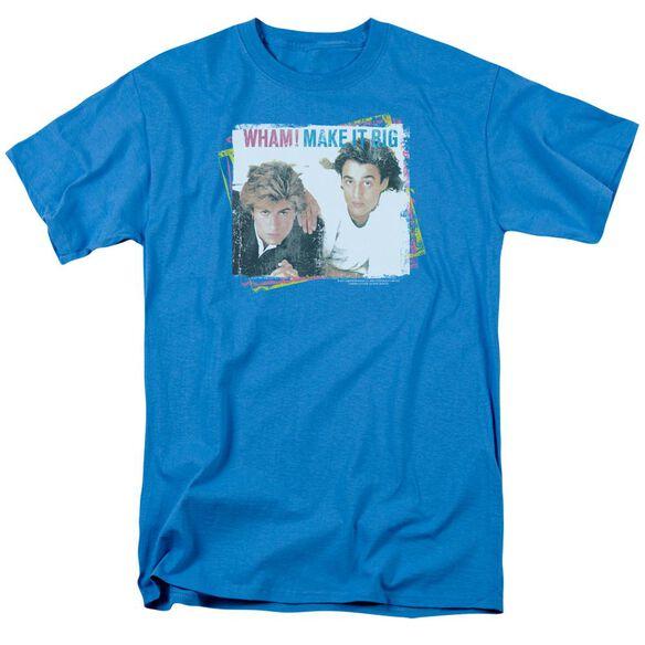 Wham Make It Big Short Sleeve Adult Turquoise T-Shirt