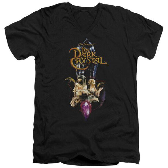 Dark Crystal Crystal Quest Short Sleeve Adult V Neck T-Shirt