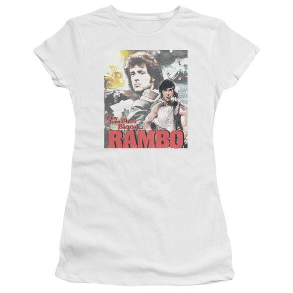 Rambo:First Blood They Drew Collage Premium Bella Junior Sheer Jersey