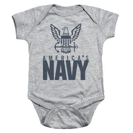 Navy Eagle Logo Infant Snapsuit Athletic Heather