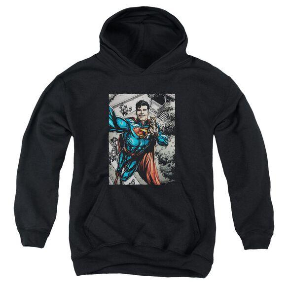 Superman Super Selfie Youth Pull Over Hoodie