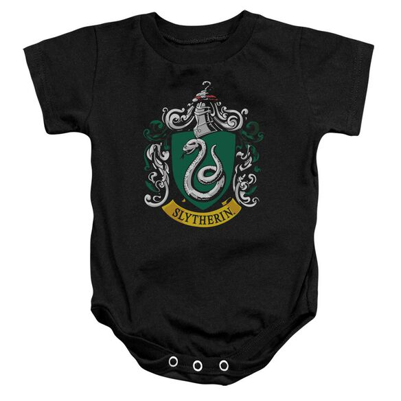 Harry Potter Slytherin Crest Infant Snapsuit Black