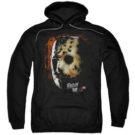 Friday The 13 Th Mask Of Death Adult Pull Over Hoodie