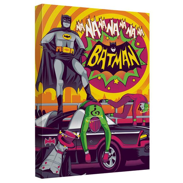 Batman Classic Tv Batman Wins Again Quickpro Artwrap Back Board