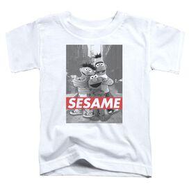 Sesame Street Sesame Short Sleeve Toddler Tee White T-Shirt