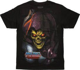 He Man Skeletor Close Up T-Shirt Sheer