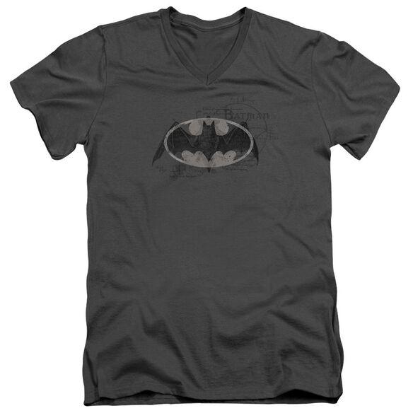 Batman Arcane Bat Logo Short Sleeve Adult V Neck T-Shirt