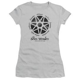 American Horror Story Seven Wonders Short Sleeve Junior Sheer T-Shirt