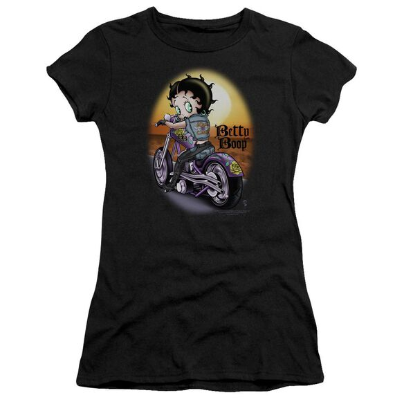 Betty Boop Wild Biker Short Sleeve Junior Sheer T-Shirt