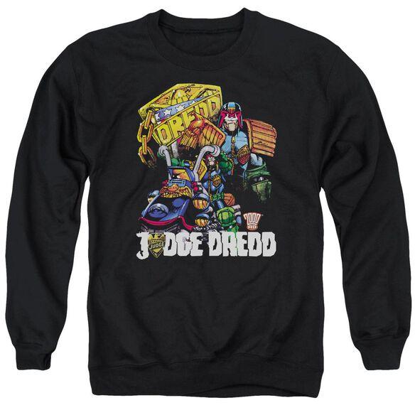 Judge Dredd Bike And Badge Adult Crewneck Sweatshirt