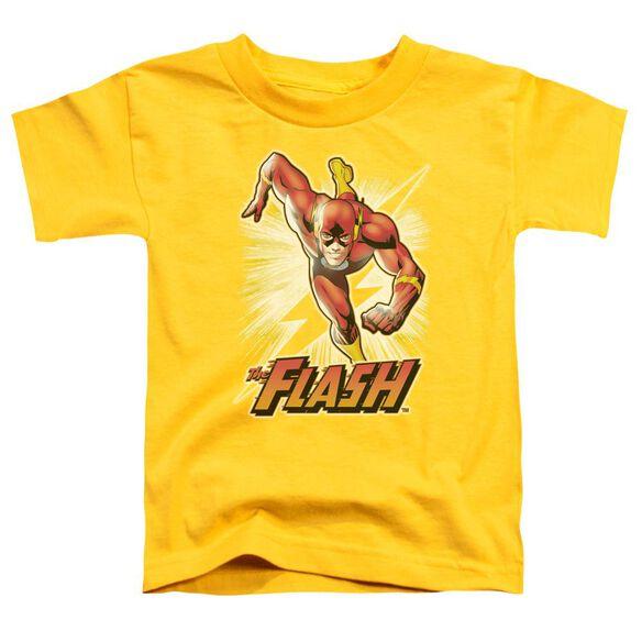 Jla Flash Yellow Short Sleeve Toddler Tee Yellow Lg T-Shirt
