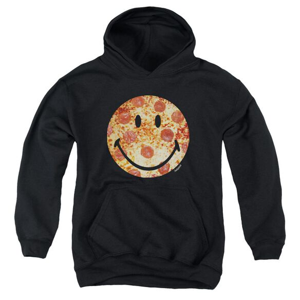 Smiley World Pizza Face Youth Pull Over Hoodie