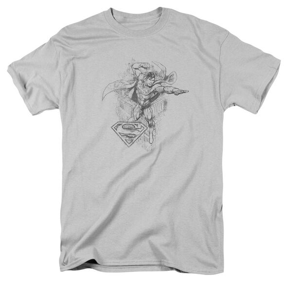 Dc Flying Flex Short Sleeve Adult Silver T-Shirt