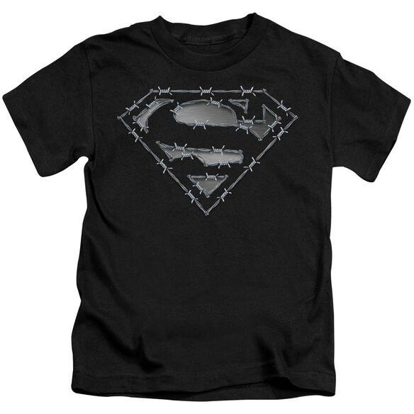 Superman Barbed Wire Short Sleeve Juvenile Black Md T-Shirt