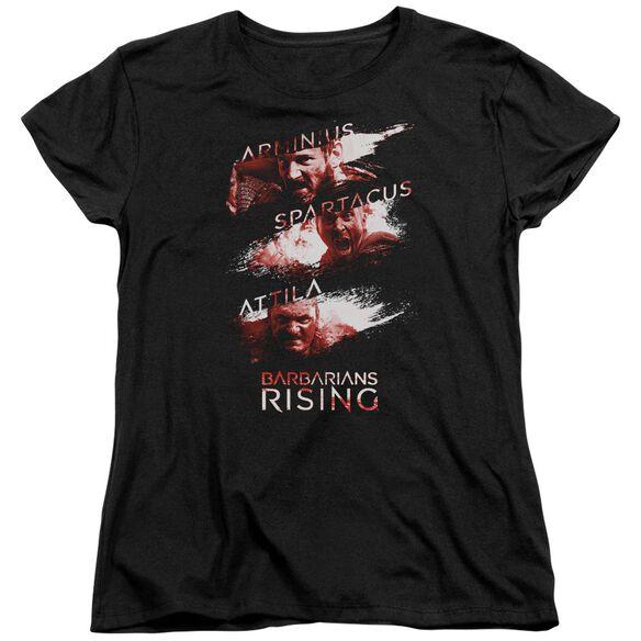 Barbarians Rising Barbarian Splash Short Sleeve Womens Tee Black T-Shirt