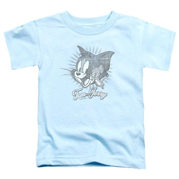 Tom And Jerry Classic Pals Short Sleeve Toddler Tee Light Blue T-Shirt