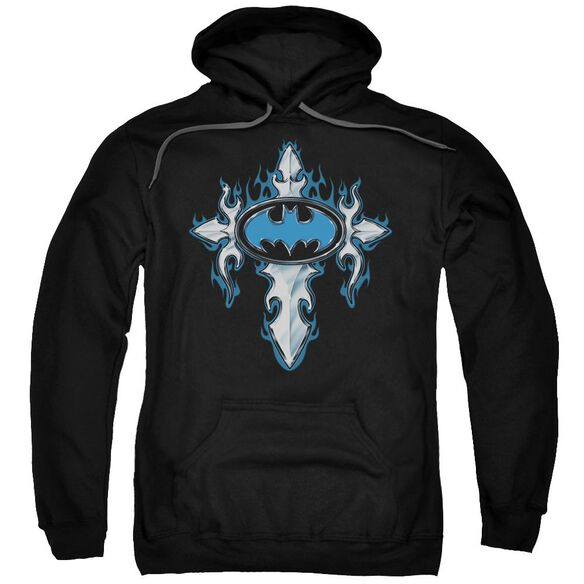 Batman Gothic Steel Logo Adult Pull Over Hoodie