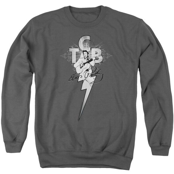 Elvis Tcb Ornate Adult Crewneck Sweatshirt