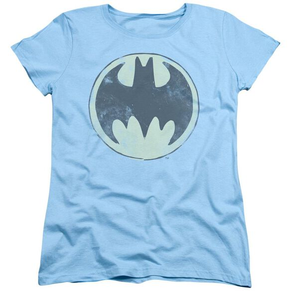 Batman Old Time Logo Short Sleeve Womens Tee Light T-Shirt
