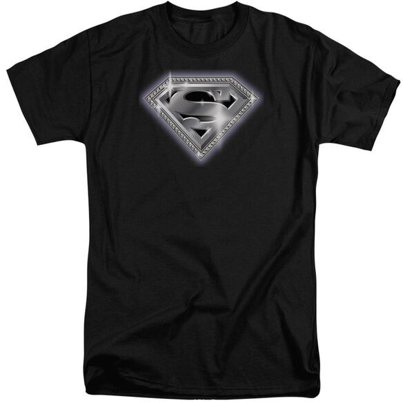 Superman Bling Shield Short Sleeve Adult Tall T-Shirt
