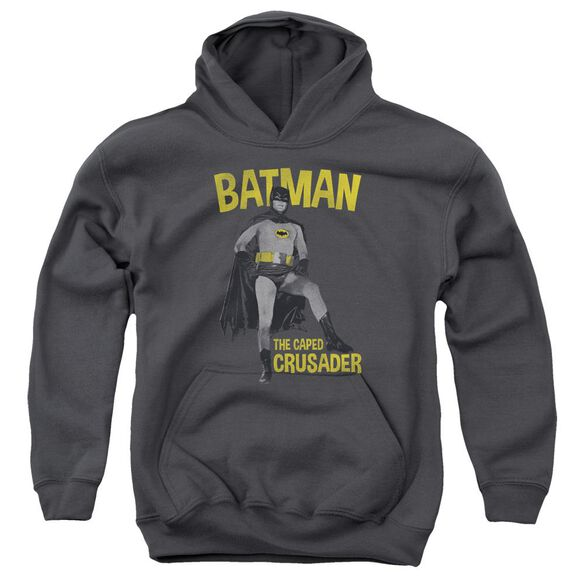 Batman Classic Tv Caped Crusader Youth Pull Over Hoodie