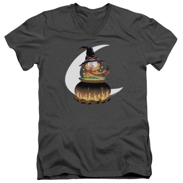 Garfield Stir The Pot Short Sleeve Adult V Neck T-Shirt