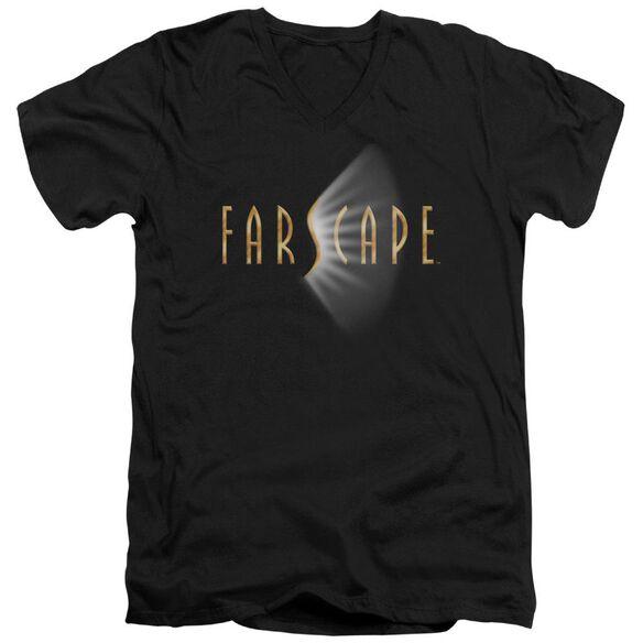 FARSCAPE LOGO - S/S ADULT V-NECK - BLACK T-Shirt
