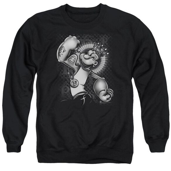Popeye Spinach King Adult Crewneck Sweatshirt