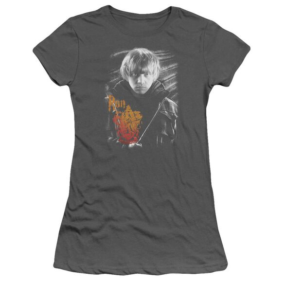 Harry Potter Ron Portrait Hbo Short Sleeve Junior Sheer T-Shirt