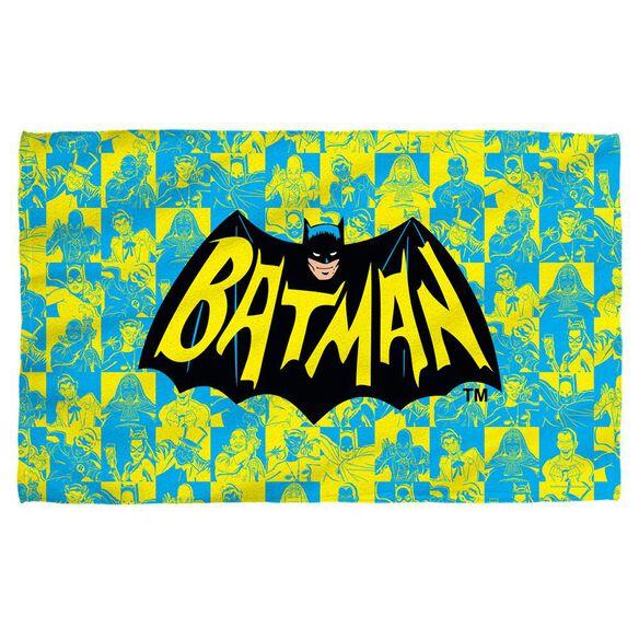 Batman Classic Tv Classic Tv Show Logo Towel White