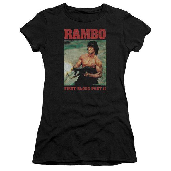 Rambo:First Blood Ii Dropping Shells Premium Bella Junior Sheer Jersey