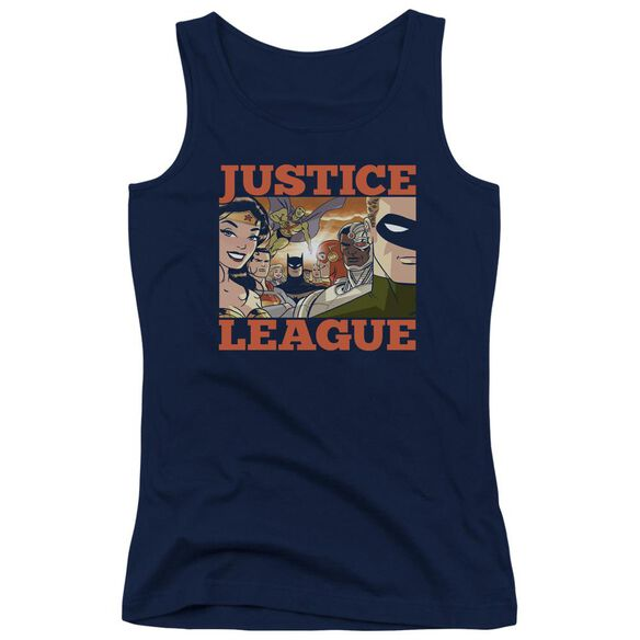 Jla New Dawn Group Juniors Tank Top