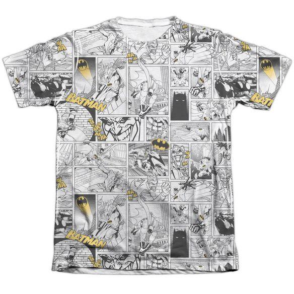 Batman Comic All Over Adult 65 35 Poly Cotton Short Sleeve Tee T-Shirt
