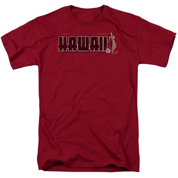 Hawaii Short Sleeve Adult Cardinal T-Shirt