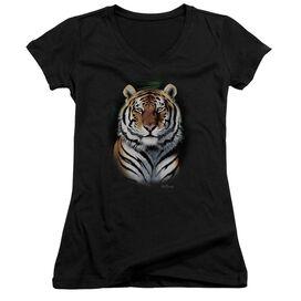 Wildlife Jungle Fire Junior V Neck T-Shirt