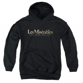 LES MISERABLES LOGO-YOUTH PULL-OVER HOODIE - BLACK