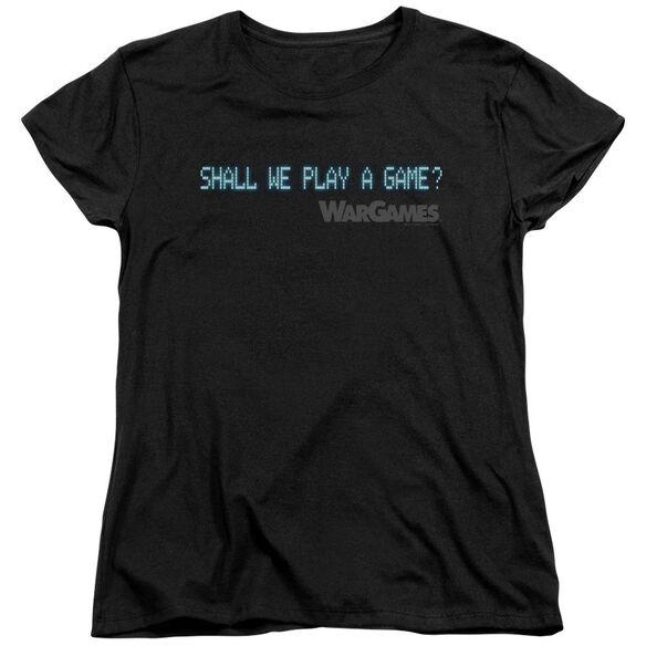 Wargames Shall We Short Sleeve Womens Tee T-Shirt