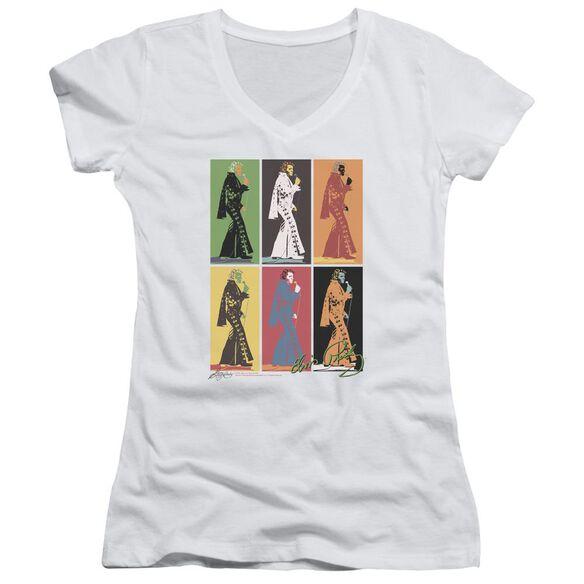 Elvis Retro Boxes Junior V Neck T-Shirt