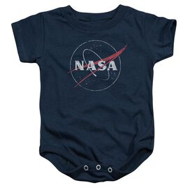 Nasa Distressed Logo Infant Snapsuit Navy
