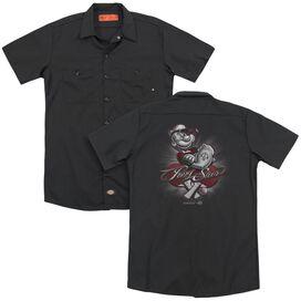 Popeye Pong Star(Back Print) Adult Work Shirt