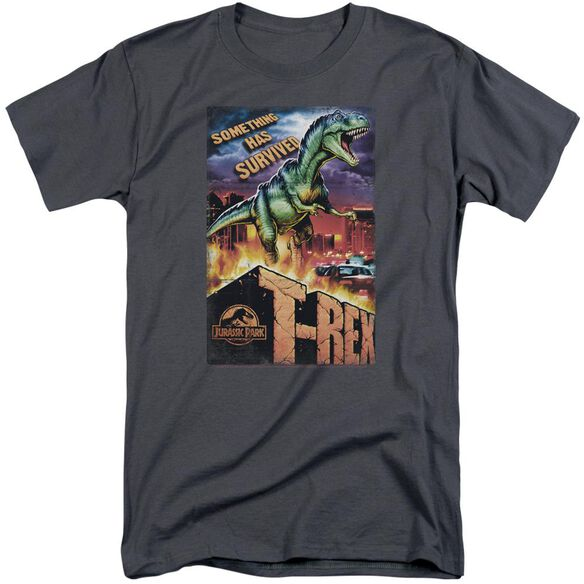 Jurassic Park Rex In The City Short Sleeve Adult Tall T-Shirt