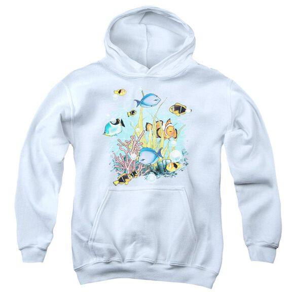 Wildlife Tropical Fish Youth Pull Over Hoodie