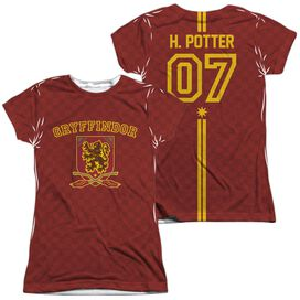 Harry Potter Potter Sweater (Front Back Print) Short Sleeve Junior Poly Crew T-Shirt
