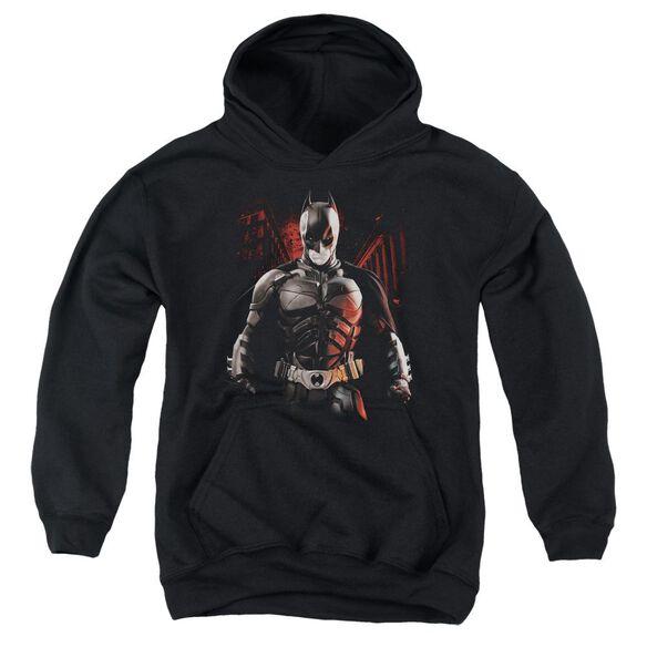 Dark Knight Rises Batman Battleground Youth Pull Over Hoodie