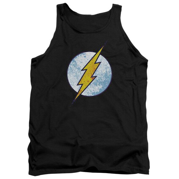 Dc Flash Flash Neon Distress Logo Adult Tank