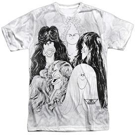 Aerosmith Lines Short Sleeve Adult Poly Crew T-Shirt